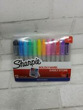 Sharpie Fine Point Markers Assorted Colors Hard Case Easel 12 Pack Permanent