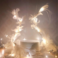 New Feather Angel Wing Cake Toppers Cupcake Flag Dessert Baking Decor Light-up
