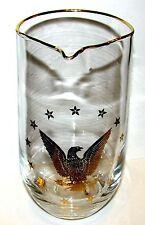 Vintage Eagle & Stars Americana Glass Pitcher Flagon RARE MINT