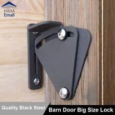 Black Carbon Steel Big Size Sliding Barn Wood Door Lock Pull Door Latch Hardware