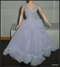 GOWN BARBIE WHITE DIAMONDS DOLL ELIZABETH TAYLOR PURPLE LAVENDER DRESS