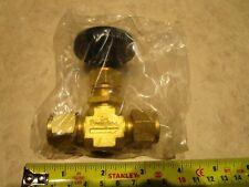 """Swagelok B-1VS8 Brass Integral Bonnet Needle Valve 3/8"""" Tube"""