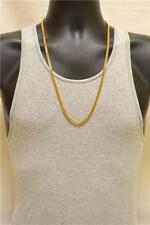 5mm Men's 24K Gold Layered Cuban Miami Link Neck Chain 30""