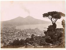 Italie, Naples, Napoli, panorama preso dalla villa Tolentino  Vintage albumen pr