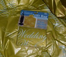 "Jean Marie giant gift bag plastic bag with tag wedding wishes 36""x9.6""x44"""
