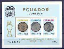 Fußball WM 1974 - Ecuador - Bl.65 B ** MNH