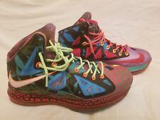 "Nike Lebron 10 Premium ""What The Lebron"" MVP Style # 618217-300 Size 10"