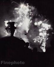 1936/68 Vintage 11x14 NUIT DE LONGCHAMPS Fireworks Night Paris France ~ BRASSAI