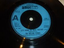 """ROLLING STONES : Let's Spend The Night Together  1967 UK 2-track 7"""" Vinyl Single"""