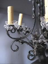 GOTHIC FIXTURE & 4 SCONCES,  Wrought Iron Chandelier ARTS & CRAFTS, Mission A&C