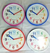 Acctim Wickford Kids Clock Children Wall Clock Teach Time Learn To Read Time