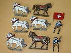 Vintage lot ANCIEN soldat CHEVAUX en PLOMB cheval Miniature Lead Horses PFERD