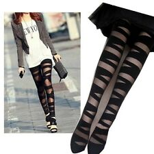 Ripped Stretch Sexy Vintage Tight Legging Negro Leggings Stocking Negro