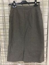Rodier Paris 1970's Vintage Tweed Wool Skirt Sz 38 UK 8 Fitted Knee Length Slit