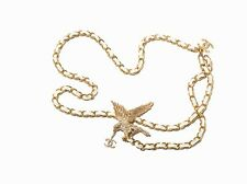 CHANEL Belt/Necklace With Rhinestone Eagle,