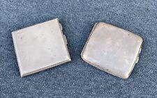 """More details for 2 vintage solid silver cigarette cases birmingham (1919 & 1932) """"225.8g"""" n/r"""