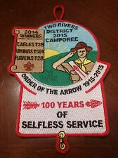 2015 Piedmont Council, NC Two Rivers Camporee 'OA 100 Years of Service' Patch