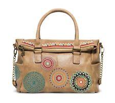 Desigual Siara Loverty Shoulder Bag Handtasche Umhängetasche Tasche Beige