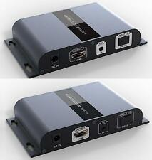 Up to 20Km,HTbitT HDMI over IP Fiber optic Extender With IR pass-back, 1080P