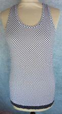 ONE STEP Haut Débardeur Taille 38 Fr - Blanc à pois noir