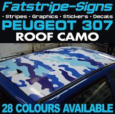 Peugeot 307 Camo toit Graphique rayures autocollants stickers GTI Pug Estate CC 1.4 1.6