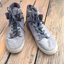 Supra Gray Black Sneakers Mens 13 UK 12 EUR 47.5 Skate Sk8 Athletic Canvas Shoes