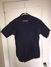 Maximos Men's Buton Front Shirt Short Sleeve L Made in Italy