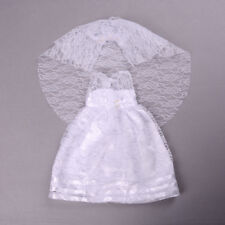 Vestiti fatti a mano da sposa bianco vestito da partito per 18inch Girl Doll CH