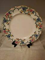 "CAULDON OF ENGLAND 13"" VICTORIA PLATTER GOLD TRIM SCALLOPED EDGE COLORFUL FLORAL"