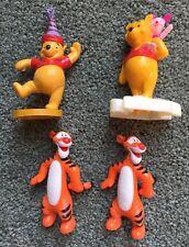 Lot of 4 Disney PVC Mini Figures Figurines RARE Winnie the Pooh Cartoon Toys