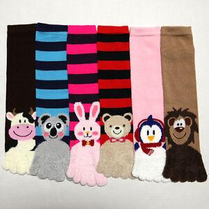 Women's Toe Tube Socks 9-11 Fuzzy Animal Warm Thick Winter Teen New Unisex Brown
