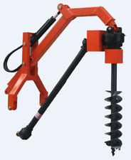 Tractor 3PL Hydraulic Assist Post Hole Digger with Auger