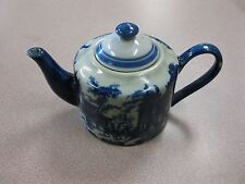 Victoria Ware Ironstone - Flow Blue - Tea Pot Kettle FREE SHIPPING