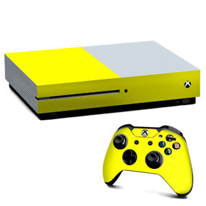 Xbox One S Console Skins Decal Wrap ONLY Bright Yellow