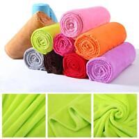Super Soft Warm Solid Warm Micro Plush Fleece Blanket Throw Rug Sofa Bedding Bs
