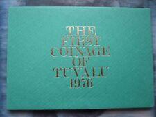 Tuvalu 1976 7 MONETE 1 cent - 1 DOLLARO PROVA SET SIGILLATO CUSTODIA BUSTA Royal Nuovo di zecca