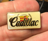 Cadillac Logo enamel pin NOS vintage luxury car sedan 70s 80s new hat lapel bag