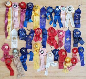 Lot of 12 New Horse Show Ribbons Farmington