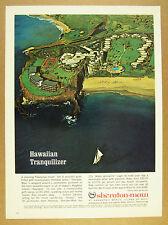 1967 Sheraton-Maui Kaanapali Beach resort hotel Aerial Photo vintage print Ad