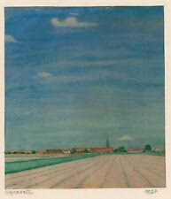 """Pietschmann, Karl (1897 Greifswald –1938) """"Pommersche Landschaft"""" Aquarell, 1927"""