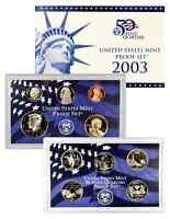 2003 US MINT PROOF SET - BOX, COA 10 COINS
