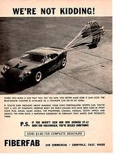 1967 FIBERFAB KIT CAR  ~  ORIGINAL PRINT AD