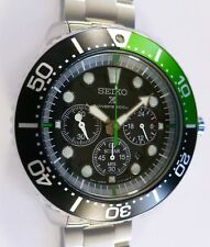 Seiko Prospex Solar Diver's Chronograph Watch - JUICY GREEN - SUPER OYSTER - NEW