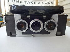 Old Vtg David White Stereo Realist 35mm Rangefinder Film Camera W/Leather Case