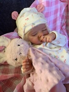 Sweet Reborn Baby GIRL Doll LOUISE was Twin A Bonnie Brown COMPLETED Baby