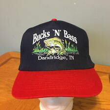 Bucks N Bass Snapback Baseball Hat Cap EUC Hunting Fishing Bait and Tackle