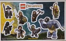 LEGO LORD OF THE RINGS PROMO STICKER SHEET BRAND NEW!