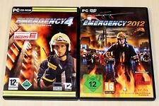 2 PC SPIELE BUNDLE EMERGENCY 4 & 2012 - FEUERWEHR SIMULATOR NOTFALL SIMULATION