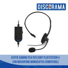 CUFFIE GAMING PS4 PER SONY PLAYSTATION 4  CON MICROFONO MONOCUFFIA COMPATIBILE