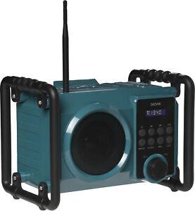 Denver FM Baustellenradio WRB-50 Bluetooth USB AUX Lautsprecher Scheinwerfer